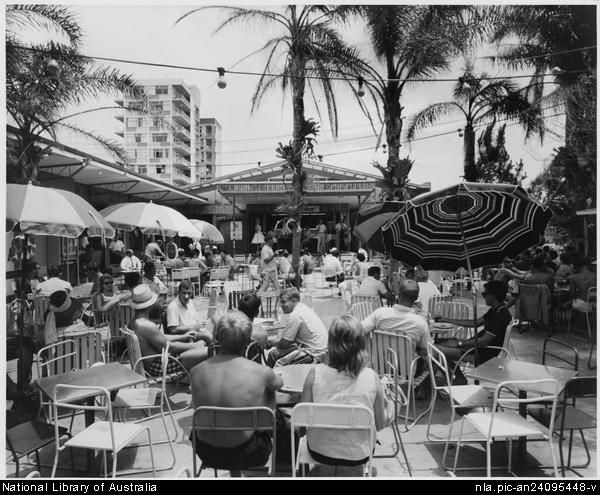 Vintage shots from days gone by!  Beer garden surfers paradise 1960's