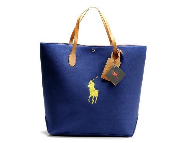Ralph Lauren Darkblue Canvas Pony Slim Handbag is on promation, don\u0027t loss  the chance.