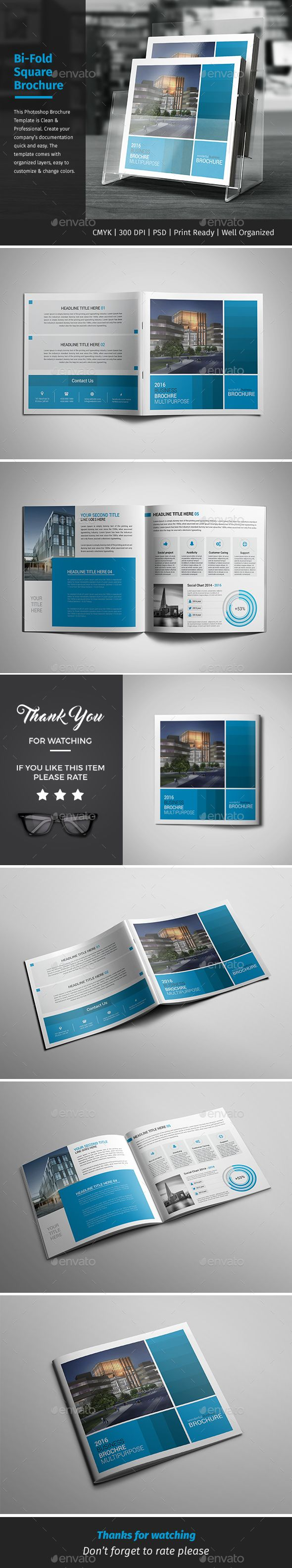 Corporate Bifold Square Brochure 08 U2014 PSD Template #marketing #scheme U2022  Download ➝ Https