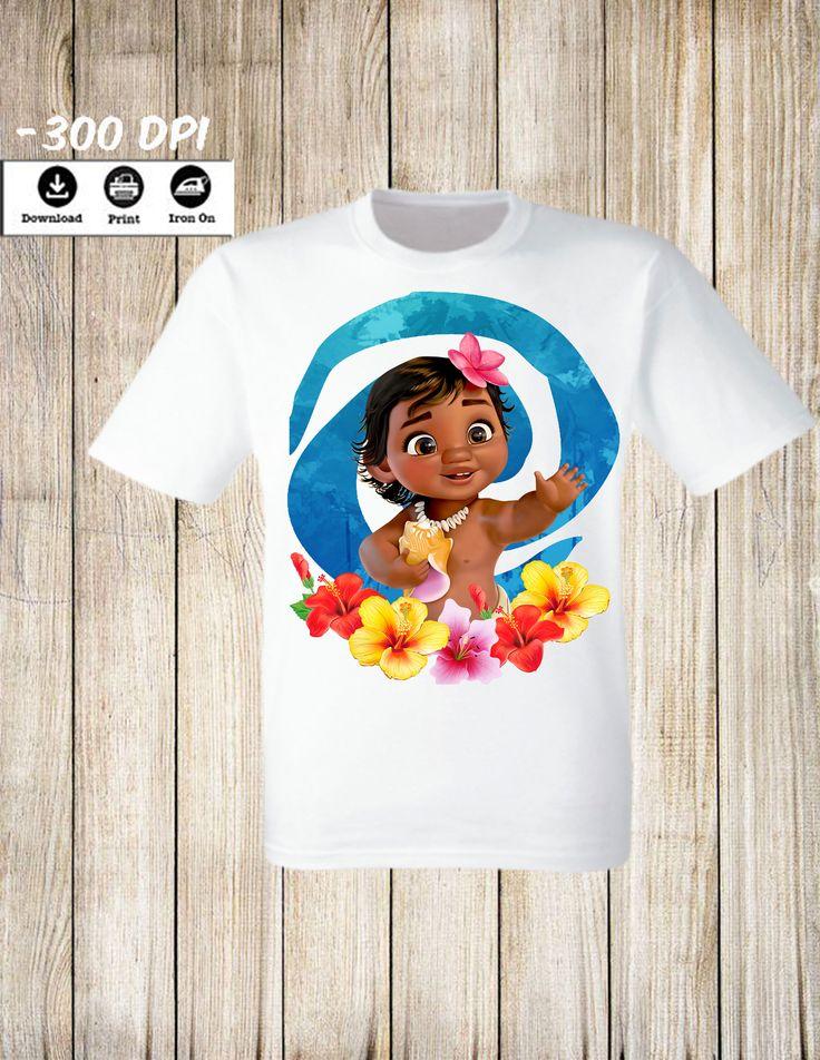 Disney moana iron on transfer birthday girl shirt
