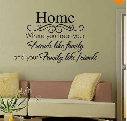 Home Wall Quote Decal Sticker Decor Graphic Vinyl Wall Stickers Wall Art  Decals