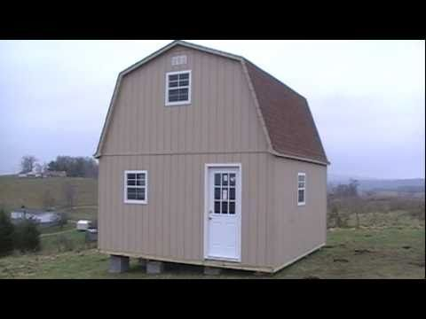 2 Story Barn Cabin Shed Youtube For The Cottage