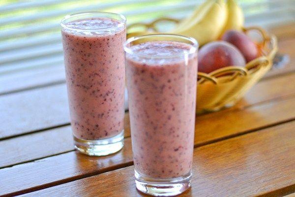 Peach Blueberry Smoothie - Salu Salo Recipes