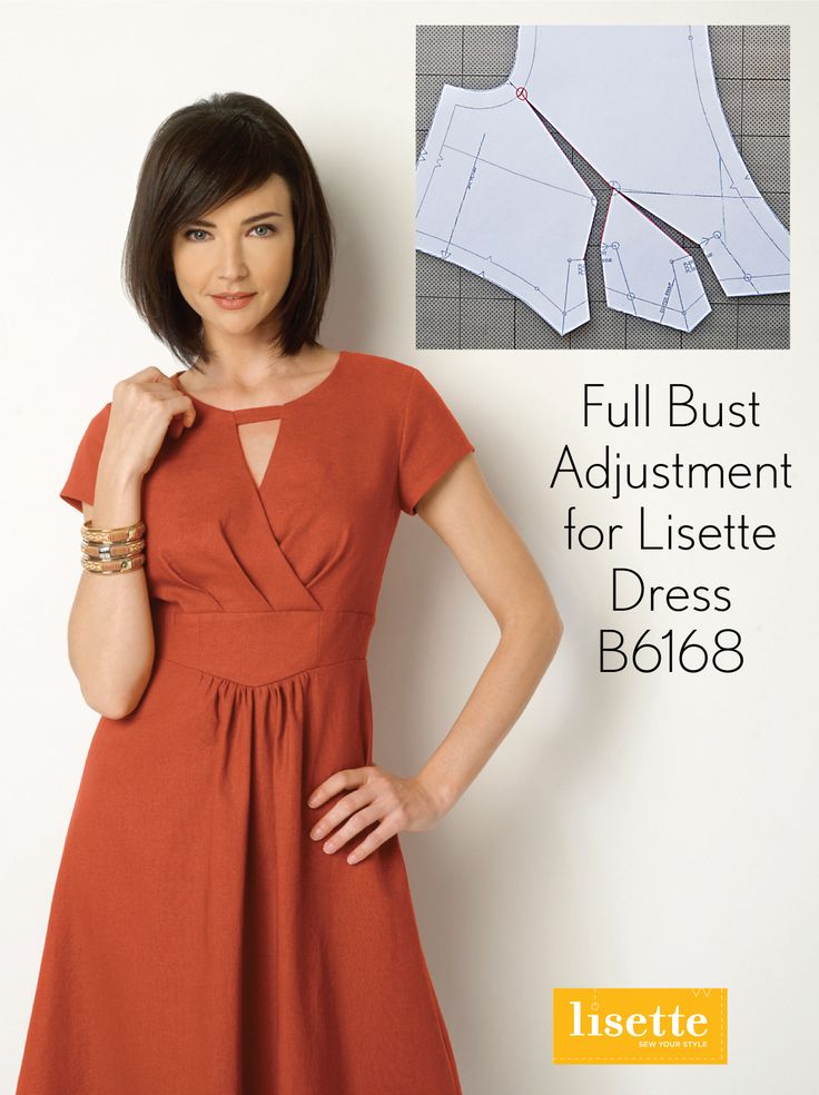 Follow along with the Lisette B6168 Fit-and-Flare Dress sew-along this week. We'll even show how to do a full bust adjustment for the bodice! http://www.sewlisette.com/blog/2015/04/sew-along-b6168-fit-and-flare-dress-day-1/