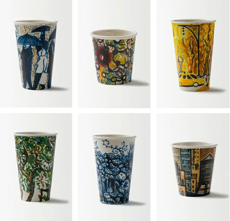 Typology of hand illustrated cups by Gwyneth Leechat Anthropologie.