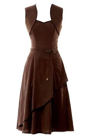 cotton corset dress with waist coat  steampunk dress