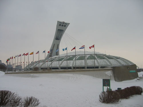 Stadium from 1976 Olympics in Montreal.