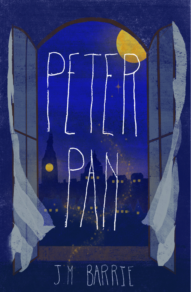 Peter Pan book cover concept by Schuyler