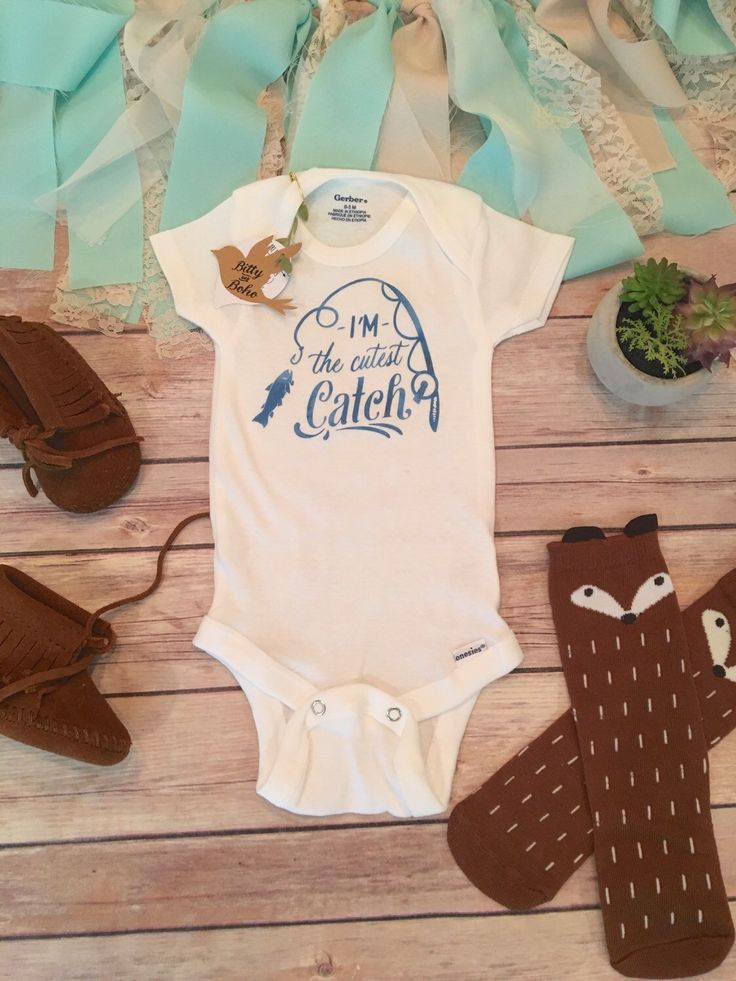 Fishing Onesie®, Baby Shower Gift, Baby Boy Clothes, I'm the Cutest Catch Onesie, Hunting Baby Bodysuit, Country Baby Clothes, Cute Onesies by BittyandBoho on Etsy https://www.etsy.com/listing/292772201/fishing-onesie-baby-shower-gift-baby-boy
