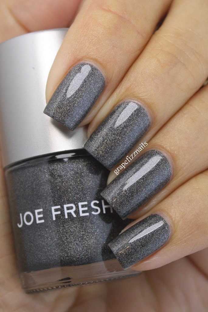Joe Fresh Granite Glow via Grape Fizz Nails