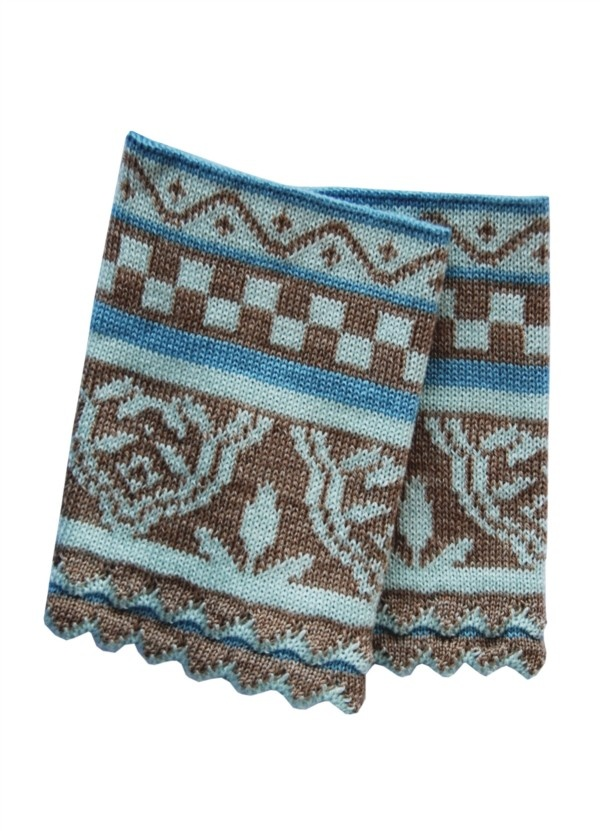Oleana Pulsvarmere - There is an old belief, amongst knitters, that if you keep your wrist warm and you neck you will be warm. In the winter I always tuck a pair of these, from Oleana, in my purse. Then if I get cold I can simply slip them on to warm up! It works much like a shawl.
