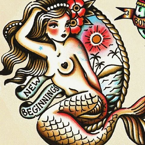 traditional mermaid tattoo - Google Search