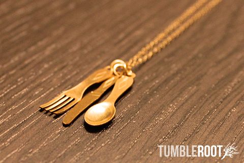 Silverware Necklace.  Darling!