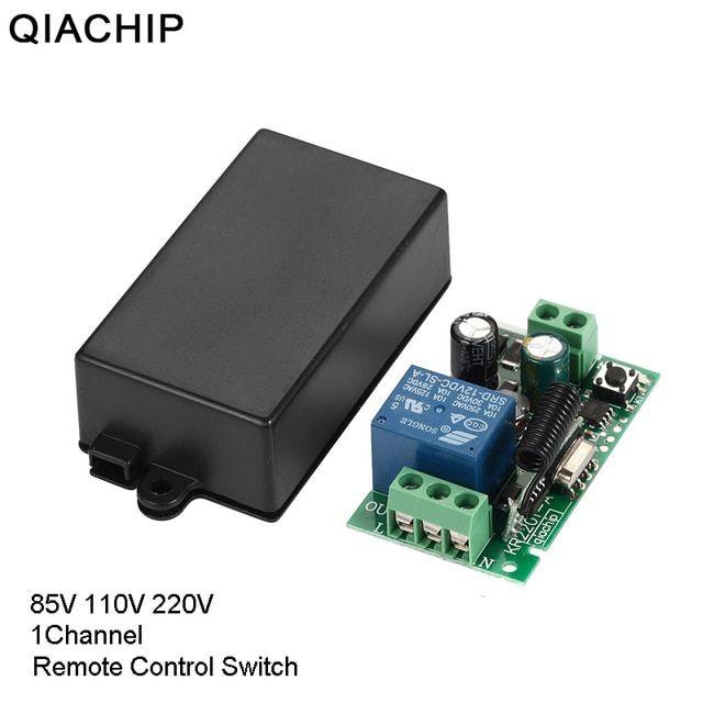 QIACHIP 433 MHz AC 85V 110V 220V 1 CH Wireless Remote