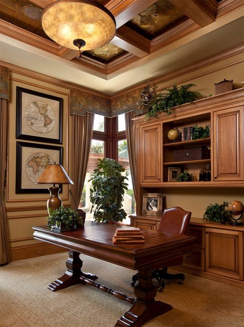 19 dramatic masculine home office design ideas - Traditional Home Office