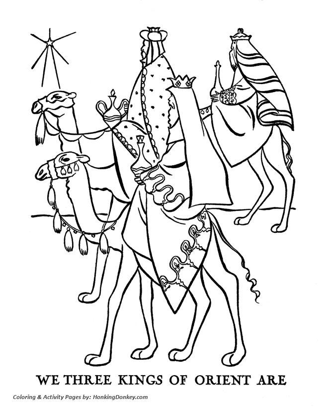 Christmas Bible Coloring Pages The Three Wise Men