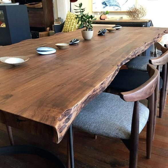 Live Edge Table Natural Wood Dining Table Live Edge Dining Tables In Live Edge Dining Tables Live Edge Dining