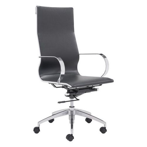 ZUO Glider Hi Back Office Chair Black