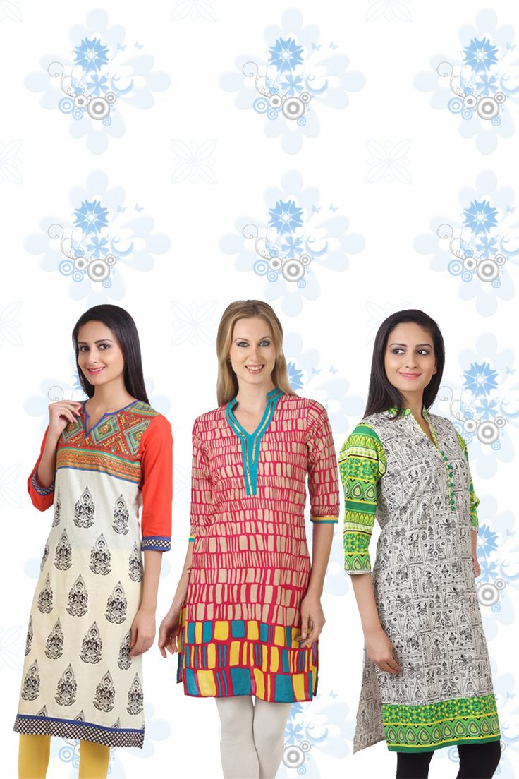 Buy a combo of 3 beautiful Shree Kurtis in just Rs.1330  Order now to surprise your loving sisters this Raksha Bandhan. Shop here - http://hytrend.com/sale.html