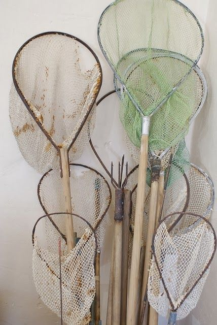 Collections - Fish Nets  {LOVE; reminds me of summer fishing trips with my Dad and family to Yellowstone!}