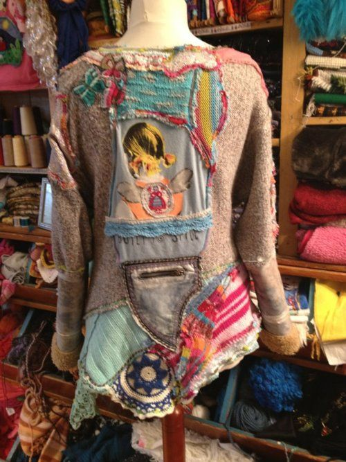 Love this upcycled Boho sweater