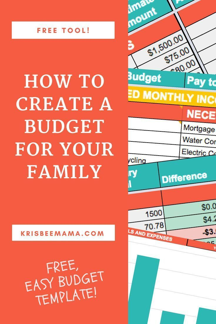 how to create a budget for your family finances pinterest