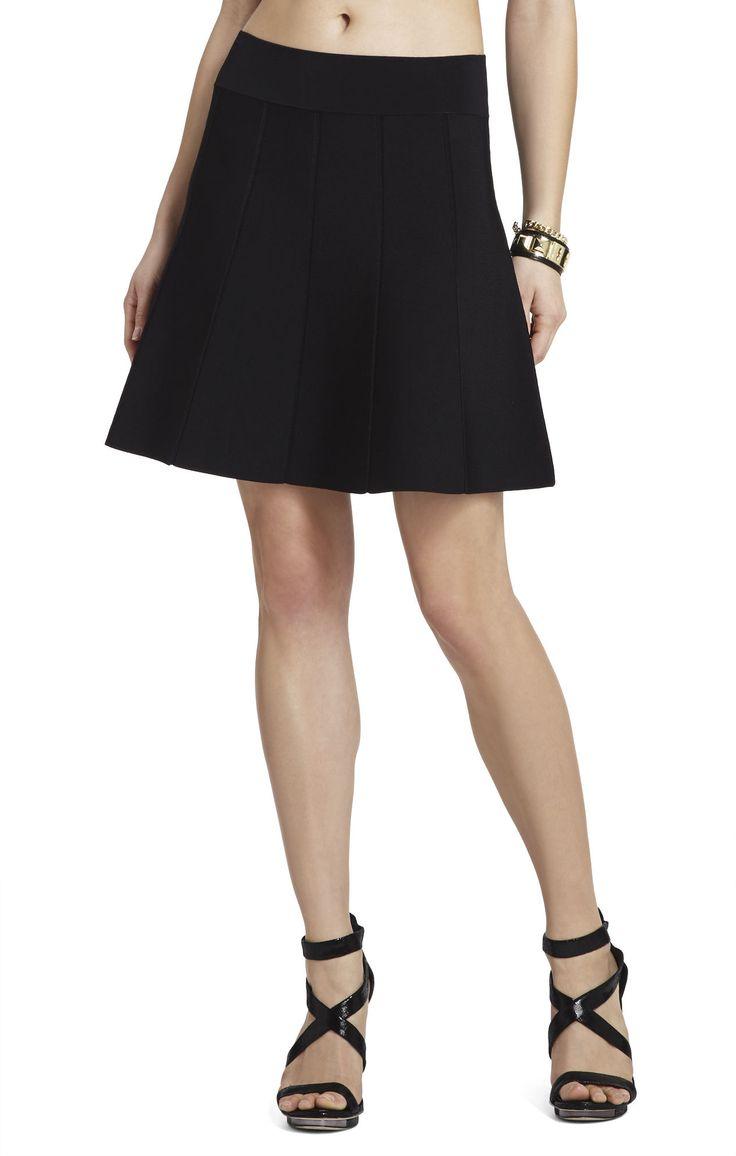 vida paneled a line skirt bcbg bottoms