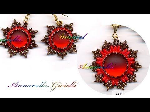 """Tutorial Perline: Orecchini """"Tiffany"""" realizzati con superduo o twin beads - YouTube"""