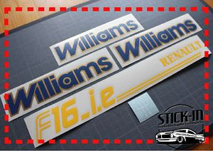 Stickers Autocollant Renault Clio Williams PH2 F16IE Pommeau Monogrammes Bleu OR | eBay