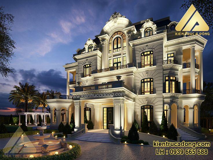 Mẫu thiết kế kiến trúc biệt thự cổ Lào Cai sang trọng http://www.kientrucadong.com/mau-biet-thu-56.html