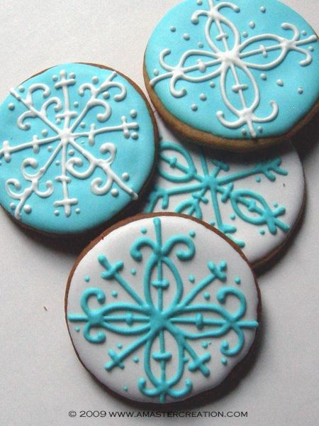 stylized snowflake cookie