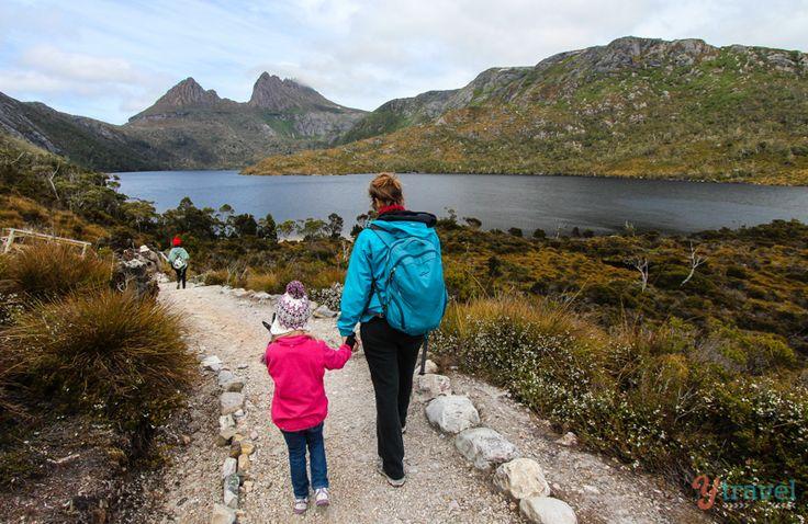 Cradle Mountain - Kid friendly hiking on trail in Tasmania