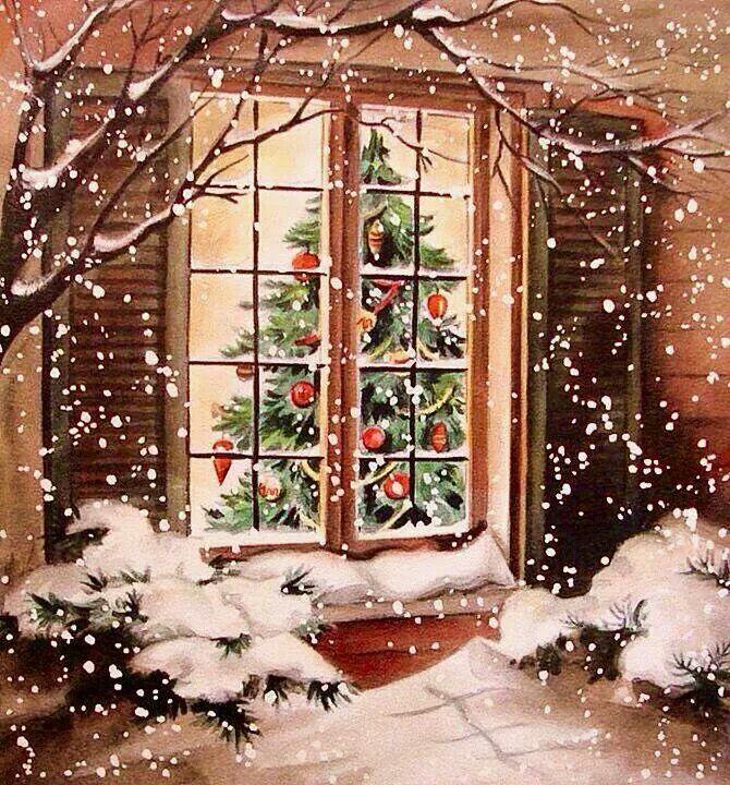 Тренер, новогоднее окно открытка