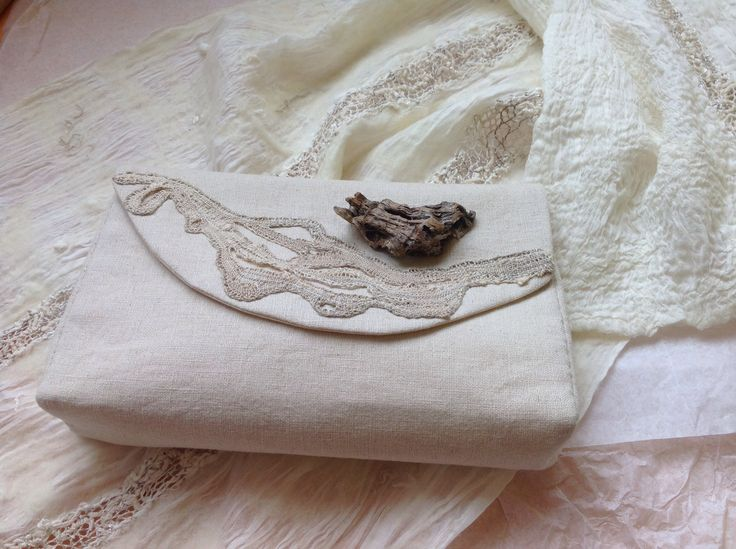 Stole and handbag - designed and worked  by me in 2014 - a combination of bobbin lace and felting