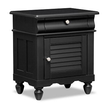 Seaside Black Kids Furniture Nightstand - Value City Furniture $169.99