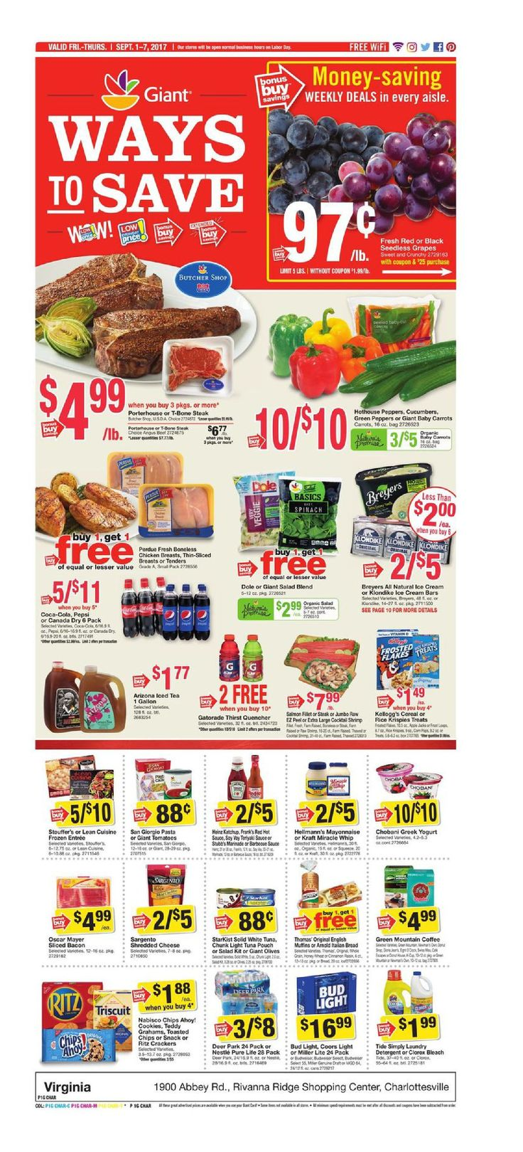Giant Food Weekly Ad September 1 - 7, 2017 - http://www.olcatalog.com/grocery/giant-food-weekly-ad.html