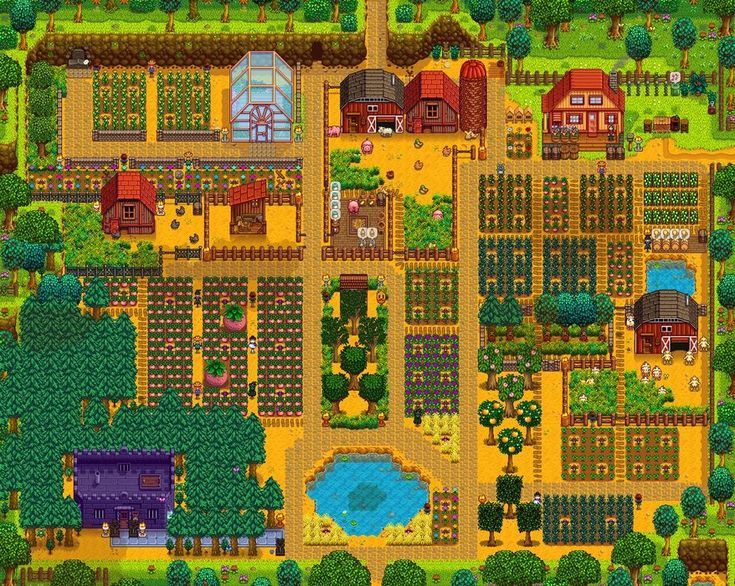 """This incredible farm was posted by developer Eric """"ConcernedApe"""" Barone on Twitter."""