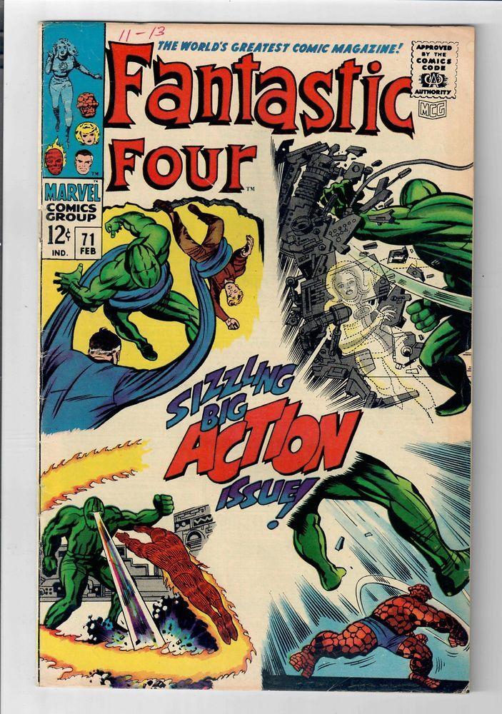 FANTASTIC FOUR (Vol. 1) #71 – Grade 7.0 – Silver Age Classic!  http://www.ebay.com/itm/FANTASTIC-FOUR-Vol-1-71-Grade-7-0-Silver-Age-Classic-/291788023447?roken=cUgayN&soutkn=jPTDfa