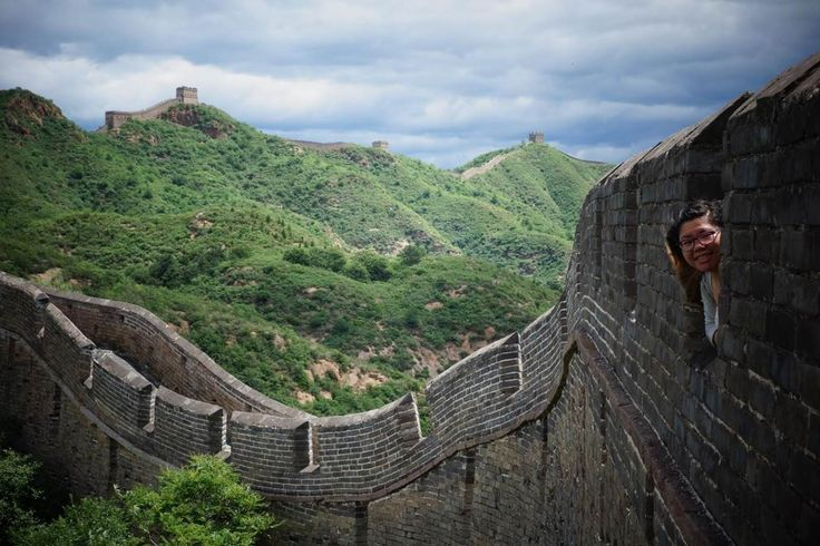What an amazing view... Tina climbed the Great Wall while studying abroad in Hong Kong. #SFSU
