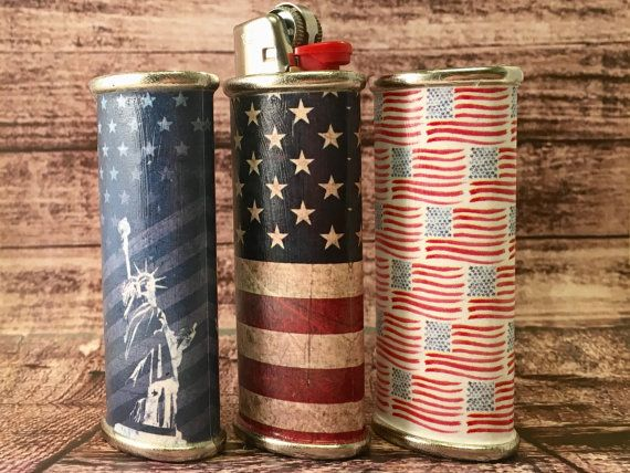 BIC LIGHTER HOLDER Limited America Independence Day by Peachique