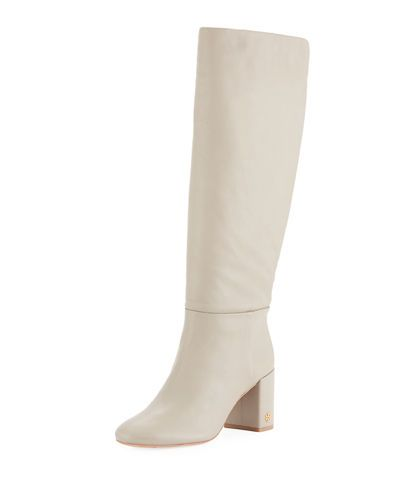 47099f88d995 X49V0 Tory Burch Brooke Slouchy Leather Block-Heel Knee Boots  495 ...