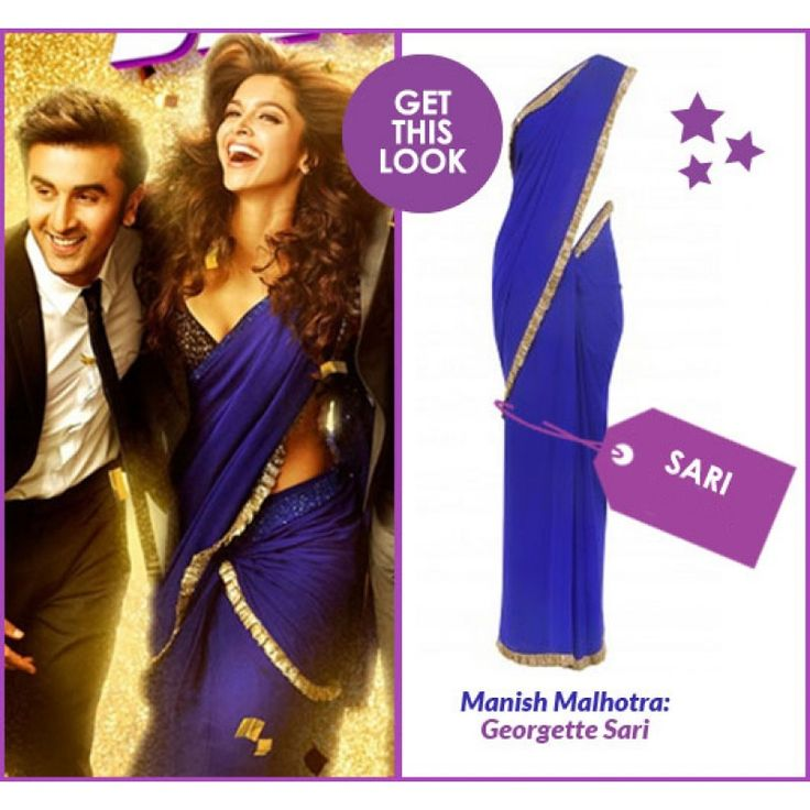 Bollywood Replica - Deepika Padukone Yeh Jawani Hai Deewani Designer Royal Blue Saree - D.NO.1331