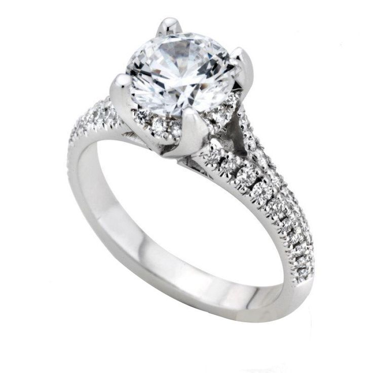 Moissanite Diamond 1.33 Ct Engagement Ring Solid 14k White Gold Finish Size H,