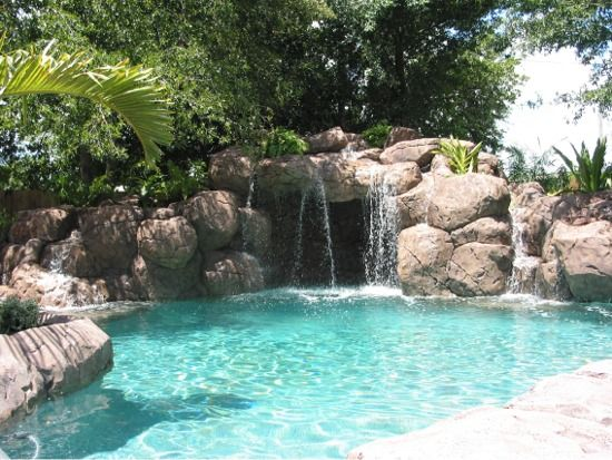 359 best images about aqua lagoons grottos waterfalls on pinterest luxury pools swimming - Swimming pools with waterfalls ...
