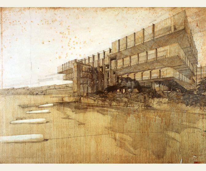 Sketch by Richard Neutra, Architect.