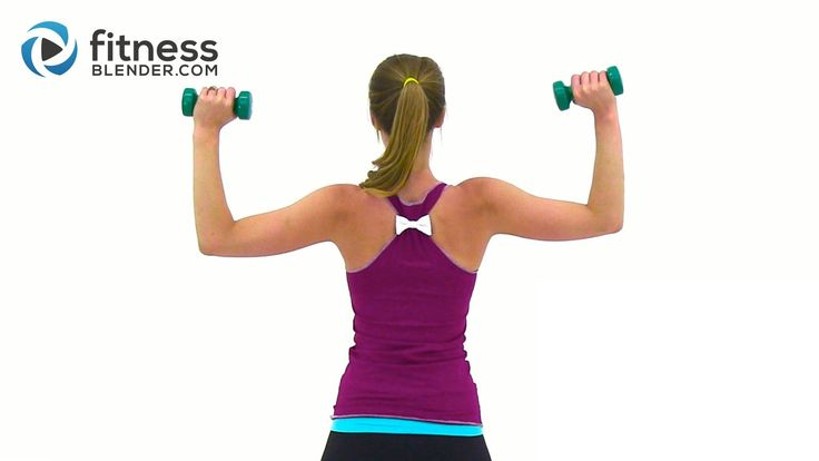 Tank Top Arms Workout - Shoulders, Arms & Upper Back Workout good and quick!