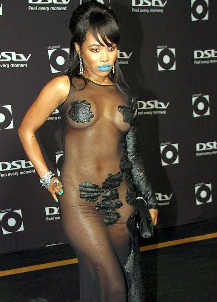 Pam Andrews Nude Dress At Channel O Music Video Award -8143