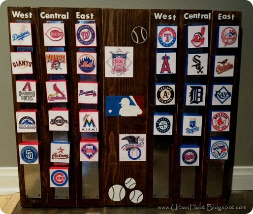 Cute idea to keep track of standings.