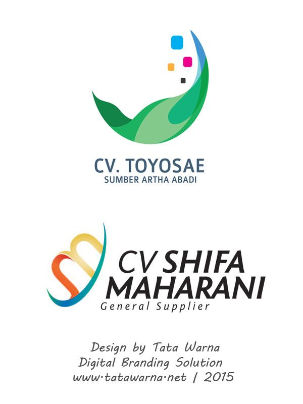 contoh desain cv toyose dan shifa maharani design logo