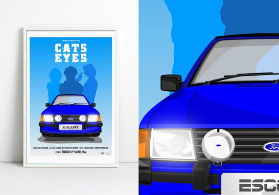 Cats Eyes TV Show Poster by jpappleton on Etsy